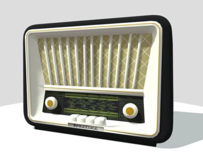 Fotografia radiodbiornika Sonatina