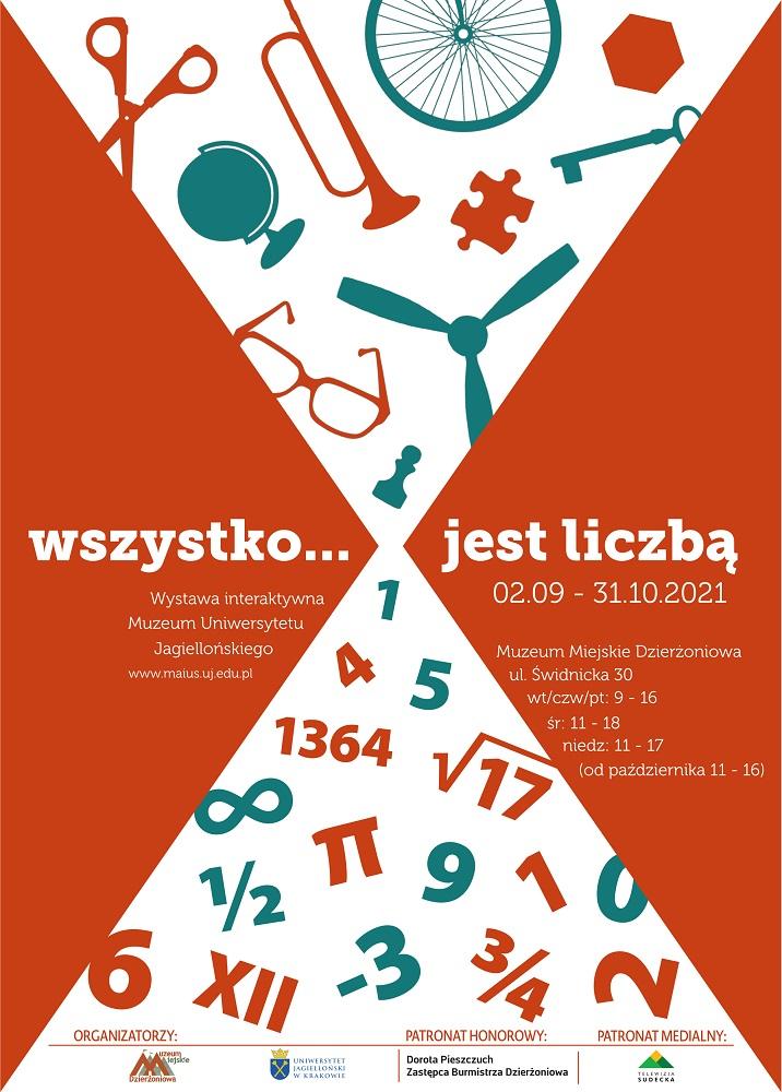 """plakat wystawy czasowej """"Wszystko... jest liczbą"""""""